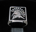 Picture of 21 x STERLING SILVER MEN'S SIGNET RINGS SPARTAN GLADIATOR GREEK WARRIOR BLACK WHOLESALE-LOT