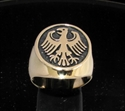 Picture of 21 x BRONZE MEN'S SIGNET RINGS GERMAN EAGLE COAT OF ARMS GERMANY WHOLESALE-LOT