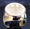 Picture of 21 x BRONZE RINGS GERMAN EAGLE COAT OF ARMS GERMANY WHITE WHOLESALE-LOT