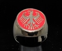 Picture of 21 x BRONZE MEN'S SIGNET RINGS GERMAN EAGLE COAT OF ARMS GERMANY RED WHOLESALE-LOT