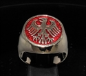 Picture of 21 x BRONZE MEN'S SIGNET RINGS GERMAN EAGLE COAT OF ARMS GERMANY DARK RED WHOLESALE-LOT