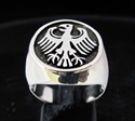 Picture of 21 x STERLING SILVER MEN'S SIGNET RINGS GERMAN EAGLE COAT OF ARMS GERMANY ANTIQUED WHOLESALE-LOT