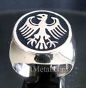Picture of 21 x STERLING SILVER RINGS GERMAN EAGLE COAT OF ARMS GERMANY BLUE WHOLESALE-LOT