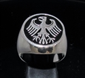 Picture of 21 x STERLING SILVER MEN'S SIGNET RINGS GERMAN EAGLE COAT OF ARMS GERMANY BLACK WHOLESALE-LOT