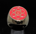 Picture of 21 x BRONZE MEN'S SIGNET RINGS ATOMOS ATOMIC CLOUD MODEL RED WHOLESALE-LOT