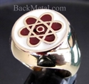 Picture of 21 x BRONZE RINGS ATOMOS STAR OF DAVID FLOWER WHOLESALE-LOT