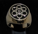 Picture of 21 x BRONZE MEN'S SIGNET RINGS ATOMOS ATOMIC CLOUD MODEL BLACK WHOLESALE-LOT