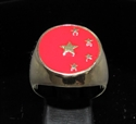 Picture of 21 x BRONZE MEN'S SIGNET RINGS CHINA FLAG 5 STARS RED WHOLESALE-LOT