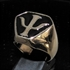 Picture of 21 x BRONZE MEN'S SIGNET RINGS BABYLON 5 PSY CORPS EMBLEM BLACK WHOLESALE-LOT
