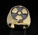 Picture of 21 x BRONZE MEN'S SIGNET RINGS WARNING NUCLEAR POWER RADIOACTIVE WHOLESALE-LOT