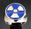 Picture of 21 x BRONZE RINGS WARNING NUCLEAR POWER RADIOACTIVE BLUE WHOLESALE-LOT