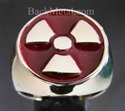 Picture of 21 x BRONZE RINGS WARNING NUCLEAR POWER RADIOACTIVE BURGUNDY WHOLESALE-LOT