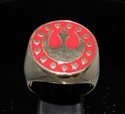 Picture of 21 x BRONZE MEN'S SIGNET RINGS STAR WARS REBEL ALLIANCE COAT OF ARMS NEW REPUBLIC RED WHOLESALE-LOT