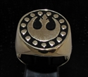 Picture of 21 x BRONZE MEN'S SIGNET RINGS STAR WARS REBEL ALLIANCE COAT OF ARMS NEW REPUBLIC BLACK WHOLESALE-LOT