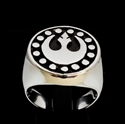 Picture of 21 x STERLING SILVER MEN'S RINGS STAR WARS REBEL ALLIANCE COAT OF ARMS NEW REPUBLIC WHOLESALE-LOT