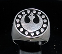 Picture of 21 x STERLING SILVER MEN'S RINGS STAR WARS REBEL ALLIANCE COAT OF ARMS NEW REPUBLIC BLACK WHOLESALE-LOT
