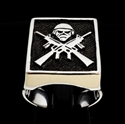 Picture of 21 x STERLING SILVER MEN'S ARMY RINGS IRON MAIDEN'S EDDY AS M16 FIGHTER BATTLEFIELD HERO WHOLESALE-LOT