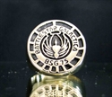 """Picture of 21 x BRONZE RINGS """" BATTLESTAR GALACTICA """" BSG 75 ANTIQUED WHOLESALE-LOT"""