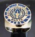 "Picture of 21 x BRONZE RINGS "" BATTLESTAR GALACTICA "" BSG 75 BLUE WHOLESALE-LOT"