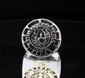 Picture of 21 x ROUND STERLING SILVER RINGS BATTLESTAR GALACTICA OFFICER RINGS BSG 75 ANTIQUED WHOLESALE-LOT