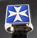 Picture of 21 x BRONZE RINGS MALTESE CROSS CRUSADER MALTA BLUE WHOLESALE-LOT