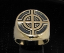 Picture of 21 x BRONZE MEN'S SIGNET RINGS CELTIC CROSS BULLS EYE TARGET ANTIQUED WHOLESALE-LOT