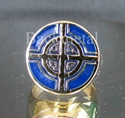 Picture of 21 x BRONZE RINGS CELTIC CROSS BULLS EYE TARGET BLUE WHOLESALE-LOT