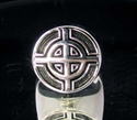 Picture of 21 x STERLING SILVER MEN'S SIGNET RINGS CELTIC CROSS BULLS EYE TARGET ANTIQUED WHOLESALE-LOT