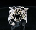 Picture of 21 x VICIOUS STERLING SILVER ANIMAL RINGS TIGER HEAD PREDATOR ANTIQUED WHOLESALE-LOT