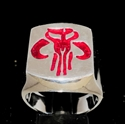 Picture of 21 x STERLING SILVER MEN'S RINGS MYTHOSAUR SKULL INSIGNIA OF MANDALOREANS STAR WARS RED WHOLESALE-LOT