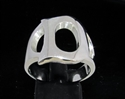 Picture of 21 x STERLING SILVER INITIAL RINGS ONE 1 CAPITAL BLOCK LETTER D WHOLESALE-LOT