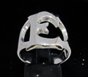 Picture of 21 x STERLING SILVER INITIAL RINGS ONE 1 CAPITAL BLOCK LETTER E WHOLESALE-LOT