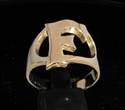 Picture of 21 x BRONZE RINGS INITIAL RINGS ONE 1 CAPITAL BLOCK LETTER F WHOLESALE-LOT