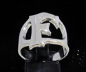 Picture of 21 x STERLING SILVER INITIAL RINGS ONE 1 CAPITAL BLOCK LETTER F WHOLESALE-LOT
