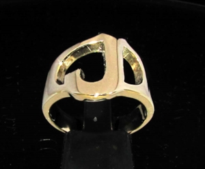 Picture of 21 x BRONZE RINGS INITIAL RINGS ONE 1 CAPITAL BLOCK LETTER J WHOLESALE-LOT
