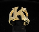 Picture of 21 x BRONZE RINGS INITIAL RINGS ONE 1 CAPITAL BLOCK LETTER K WHOLESALE-LOT