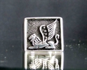 """Picture of 21 x STERLING SILVER RINGS """" ARABIC LION with WINGS """" GRIFFIN SPHINX ANTIQUED WHOLESALE-LOT"""