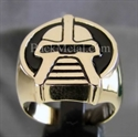"Picture of 21 x BRONZE RINGS ""the CYLON"" BATTLESTAR GALACTICA  BLACK WHOLESALE-LOT"