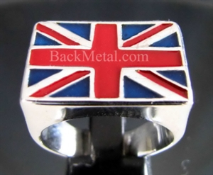 """Picture of 21 x STERLING SILVER FLAG RINGS """" UNION JACK """" LONDON UK GREAT BRITAIN WHOLESALE-LOT"""