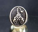 Picture of 21 x BRONZE MEN'S SIGNET ZODIAC RINGS SCORPIO SCORPIONS ANTIQUED WHOLESALE-LOT