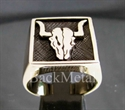 "Picture of 21 x BRONZE RINGS "" BUFFALO BULL SKULL "" TEXAS TAURUS WHOLESALE-LOT"