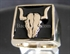 "Picture of 21 x BRONZE RINGS "" BUFFALO BULL SKULL "" TEXAS TAURUS  BLACK WHOLESALE-LOT"