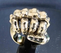 Picture of 21 x BRONZE RINGS FIST WITH BRASS KNUCKLE DUSTER FEAR WHOLESALE-LOT