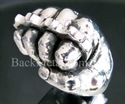 Picture of 21 x STERLING SILVER RINGS FIST WITH BRASS KNUCKLE DUSTER FEAR WHOLESALE-LOT