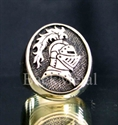 "Picture of 21 x BRONZE RINGS "" BRAVE KNIGHT "" LANCELOT ARMOR HELMET WHOLESALE-LOT"