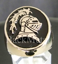 "Picture of 21 x BRONZE RINGS "" KNIGHT "" LANCELOT ARMOR HELMET BLACK WHOLESALE-LOT"