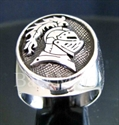 "Picture of 21 x STERLING SILVER RINGS "" KNIGHT "" LANCELOT ARMOR HELMET WHOLESALE-LOT"