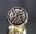 "Picture of 21 x BRONZE RINGS "" CELTIC IRON CROSS "" KNOT SPIRAL ANTIQUED WHOLESALE-LOT"
