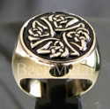 "Picture of 21 x BRONZE RINGS "" CELTIC IRON CROSS "" KNOT SPIRAL BLACK WHOLESALE-LOT"