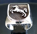 "Picture of 21 x STERLING SILVER RINGS ""JUMPING HORSE "" CIRCUS COAT OF ARMS WHOLESALE-LOT"